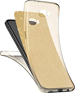 Galaxy S7 Hülle,Surakey Galaxy S7 Full Body 360 Grad TPU Silikon Crystal Case,Glänzend Glitzer Transparent Vorne Hinten Komplett Schutzhülle TPU Bumper Case Etui für Galaxy S7