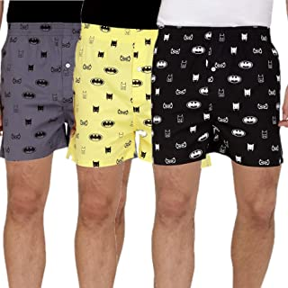 The Cotton Company Men's Cotton Boxers (Pack of 3)