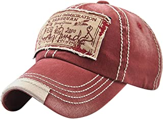 12ef6d06d341f MINAKOLIFE Mens Vintage Distressed Denim Cotton Baseball Cap Trucker Hat