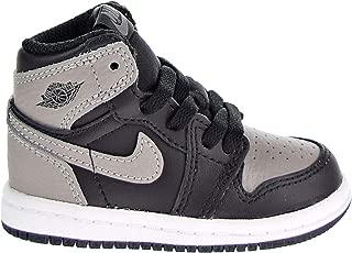 Nike Jordan 1 Retro High OG Toddler's Shoes Black/Medium Grey/White aq2665-013