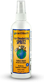 Earthbath 2 Pack of 3-in-1 Deodorizing Spritz, Vanilla and Almond for Dogs and Puppies, 8 Ounces Each