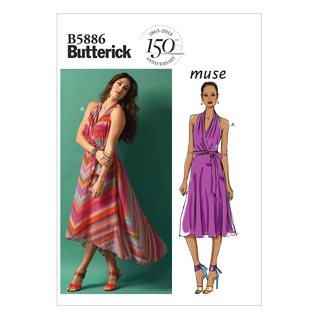 BUTTERICK PATTERNS B5886 Misses' Dress and Belt Sewing Templates, Size E5