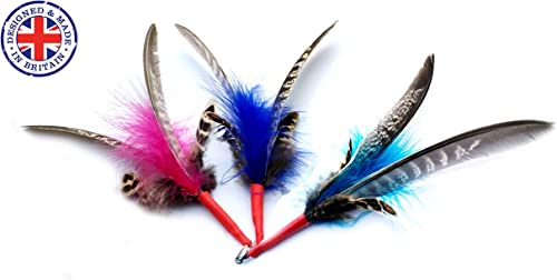 1 feather cats kitten toy feather refill replacement fits Da Bird Frenzy and other rod teaser dangler wands