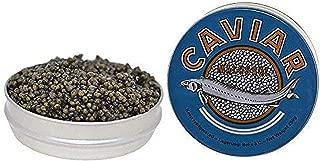 Kaluga Sturgeon Amber Caviar Huso Dauricus River Beluga 2.2 lbs 1 kg - Jar with Pearl Caviar Spoon Royal Gourmet Imperial Kaluga Caviar Light-Salted Farm Raised OVERNIGHT SHIPPING by Stradiva