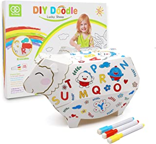 LucaSng Art Supplies-Arts and Crafts Animal Sheep for Kids Ages 4-12, All-in-One Kids Craft Painting Kit. Best Creativity ...