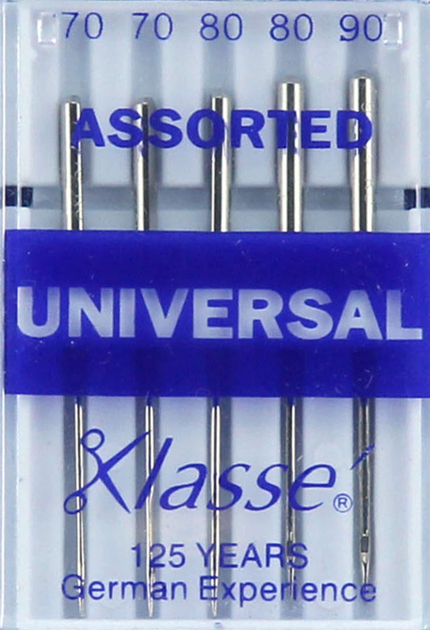 Hemline H100.99 Universal//Slight Ballpoint Machine Needles 5x 70//10 80//12 90//14