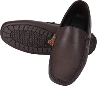 Fashionvila DK Brown Loafers Shoes for Men