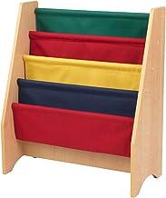 KidKraft 14226 Hängande fackhylla av trä, möbler för barnrum, bok- och förvaringshylla – primära och naturliga färger
