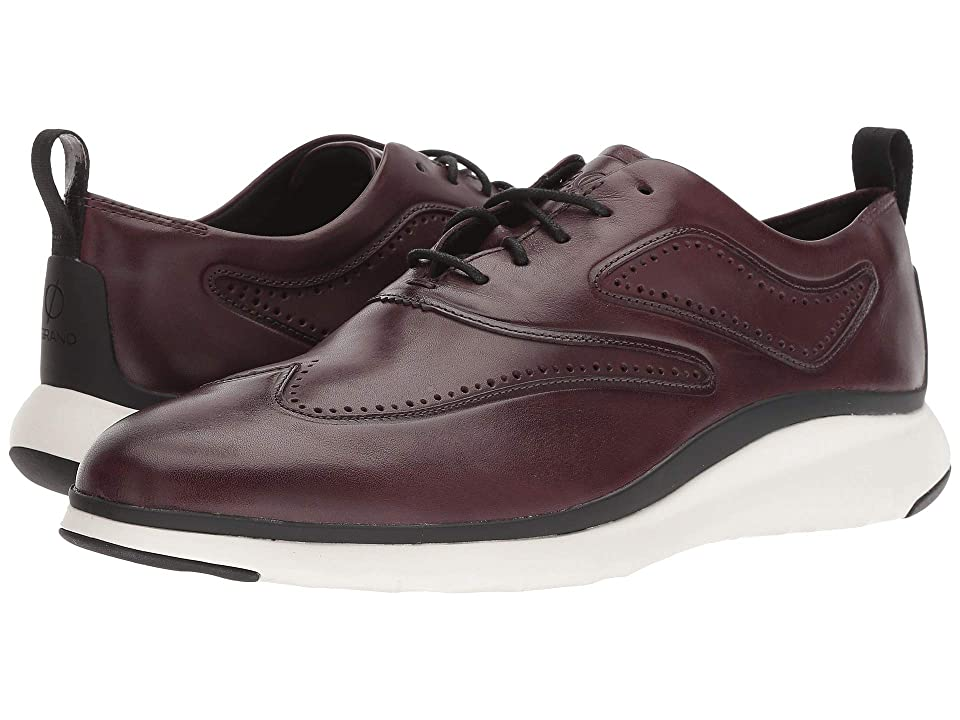 Cole Haan 3.Zerogrand Wingtip Oxford (Cordovan/Black/Ivory) Men