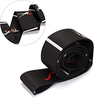 Lixada Yoga Belt Fitness Equipment Yoga Pull Strap Belt Elastic Dance Stretching Band Loop Exercise Resistance Belt