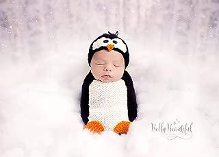 Poppy Penguin Hat and Blanket/Cocoon Set Knitting Pattern