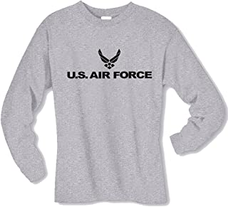 Air Force Long Sleeve T-Shirt in Gray