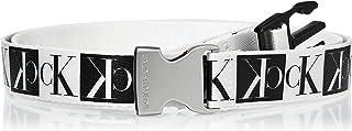 Calvin Klein Women's J PLAQUE CANVAS 3CM Belt, Black, 85 cm
