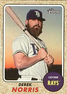 2017 Topps Heritage High Numbers #631 Derek Norris Rays MLB Baseball Card NM-MT
