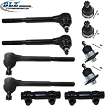 DLZ 10 Pcs Front Suspension Kit-Lower Upper Ball Joint Inner Outer Tie Rod End Adjusting Sleeve Compatible with 1964-1970 Chevrolet Chevelle 1965-1970 Chevrolet El Camino 1965-1967 Chevrolet Malibu