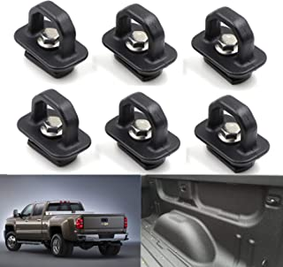6X Tie Down Anchor Hook Rings Truck Bed Side Wall Anchors Fits 2007-2019 Silverado and Sierra / 2015-2019 Colorado and Canyon,Trucks Cargo