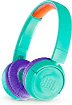 JBL JR 300BT Kids On-Ear Wireless Headphones Safe Sound Technology (Teal)