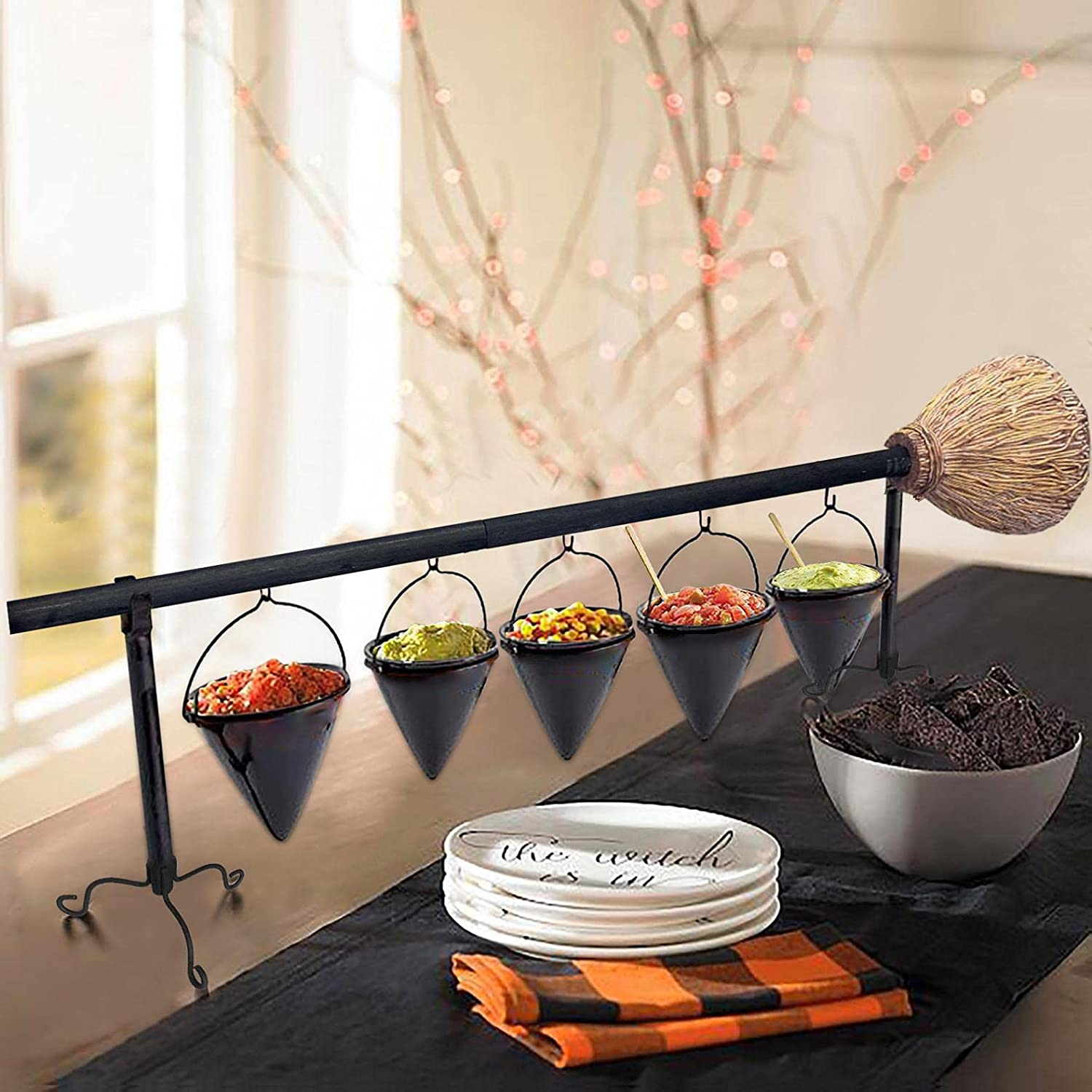 Broom Stick Snack Bowl Basket With Removable Halloween Our shop most Selling popular