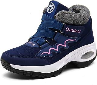 Botas Mujer Botines Zapatos Invierno Botas de Nieve Deportivas Caliente Botines Calentar Forrada Zapatillas Fur Forro Snea...