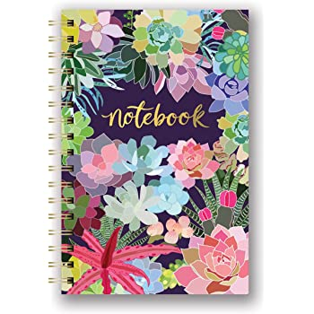Studio Oh! Medium Hardcover Spiral Notebook, Succulent Paradise (SJ003)