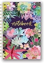 Studio Oh! Hardcover Medium Spiral Notebook Available in 9 Designs, Mia Charro Succulent Paradise