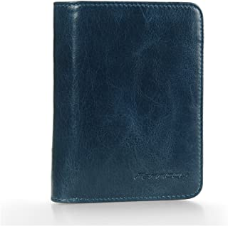 Ferricos RFID Men Cowhide Leather Portrait Short Purse Extra Capacity Trifold Inner Pocket Wallet Card Case Cash Coin Bag ...