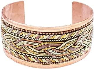 DZI (J) Copper and Brass Bracelet: Healing Cuff
