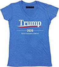 Promotion & Beyond Trump 2020 Keep America Great Wavy Women's V-Neck