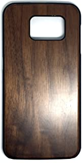 Samsung Galaxy S6 Case, Real Wood Non Slip Soft Wood Slim Bumper, Scratch Resistant Grip Ultra Light PC Snap Back Cover with Corner for Samsung Galaxy S6 G9200 (5.1 Inch) (Walnut)