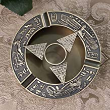 Rubbish Bin Ashtray Set Creative Ancient Egyptian of Pharaoh Pattern Spherical Pattern Ashtray Perfect Father's Day Dad Gift Home Decoration-Plane pyramid منفضة سجائر
