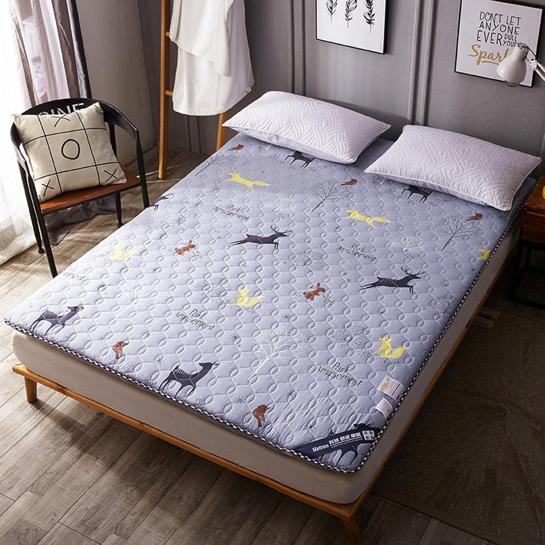 Student Dorm futon Mattress Topper, Tatami Floor mat Quilted Foldable Cushion mats Non-Slip Queen Size Mattress-C 90x200cm(35x79inch)