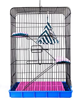 KINGBO Pet Cage Hutch for Squirrel/Hamster/Rat/Chinchilla/Guinea Pig or Other Small Animals