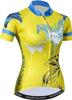 Jersey Radtrikot Bicycle Jersey Bike Cycling Jersey Shirt Jersey Red//Neon Yellow