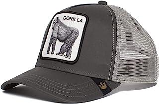 Goorin Bros. Men's Animal Farm Mesh Trucker Hat King of the Jungle Grey OS