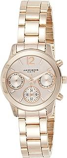 Akribos Xxiv Women's Quartz Watch, Analog Display and Stainless Steel Strap Ak709Rg