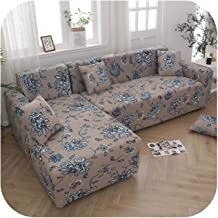 L Shaped Corner Sofa Slipcovers Printed Elastic Stretch Sectional Couch Sofa Cover Sofa Chaise Lounge Living Room-Color 4-...