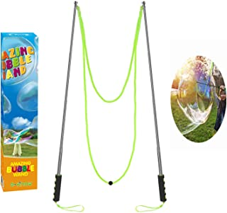 Bubble Wand,Stainless Steel Giant Bubble Wand Outdoor Toy for Kids Telescopic Design, Bubble Toys for Birthday Party, Bubble Party Favors–Works Best Bubbleventi Bubble Mix