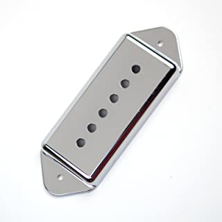 Replacement P-90 P90 Dog-ear Pickup Cover 50mm ,Chrome Plated /Plastic