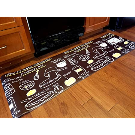 Polanya Anti Fatigue Kitchen Mat Chef Mat With Durable fabric Easy Care Indoor Decor 18x30