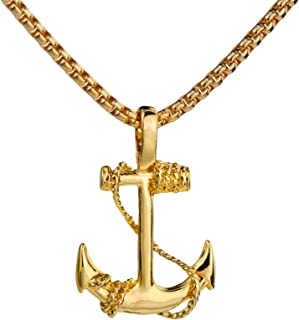 Retro Nautical Anchor Stainless Steel Pendant Necklace Jewelry for Men&Womens