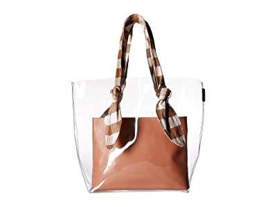 Loeffler Randall Lydia Tote (Clear/Brown/Apricot) Tote Handbags
