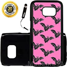 Custom Galaxy S7 Case (Bat Goth GIrl Pretty) Edge-to-Edge Plastic Black Cover Ultra Slim | Lightweight | Includes Stylus Pen by Innosub