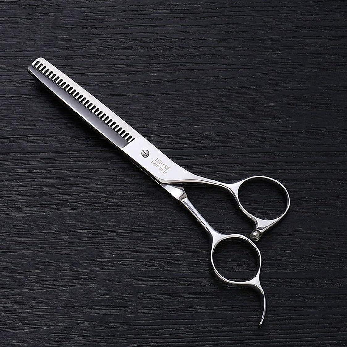 認める兵隊通訳6.0インチプロフェッショナルアントラー歯ステンレス鋼の歯はさみ理髪はさみヘアスタイリスト特別な理髪はさみ モデリングツール (色 : Silver)