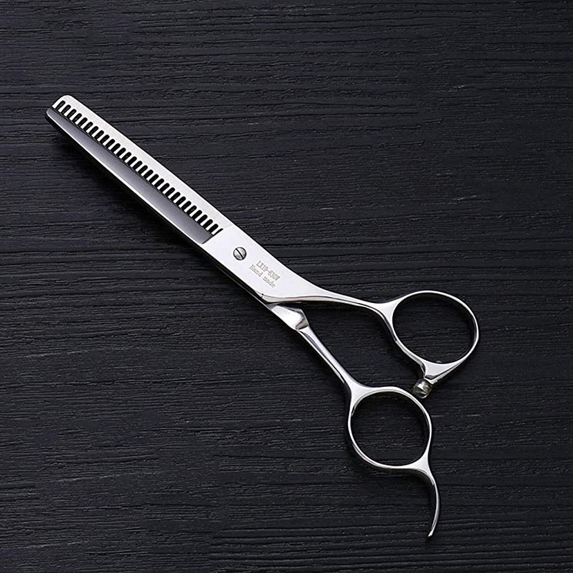 真似る長さおじさん理髪用はさみ 6.0インチプロフェッショナルアントラー歯ステンレス鋼の歯はさみ理髪はさみヘアスタイリスト特別な理髪ツールヘアカットはさみステンレス理髪はさみ (色 : Silver)