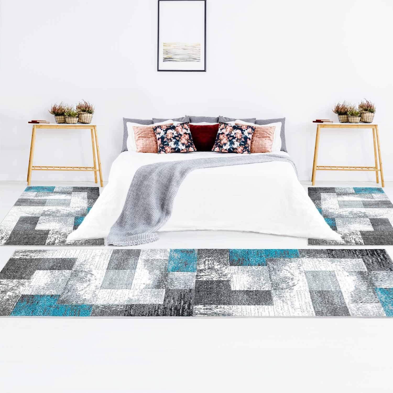 Modern Flachflor, Bettumrandung Meliert 2x Schlafzimmer für ...