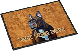 """Caroline's Treasures LH9455MAT French Bulldog Wipe Your Paws Indoor or Outdoor Mat, 18"""" x 27"""", Multicolor"""
