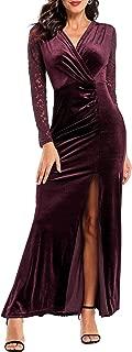 velvet evening dresses