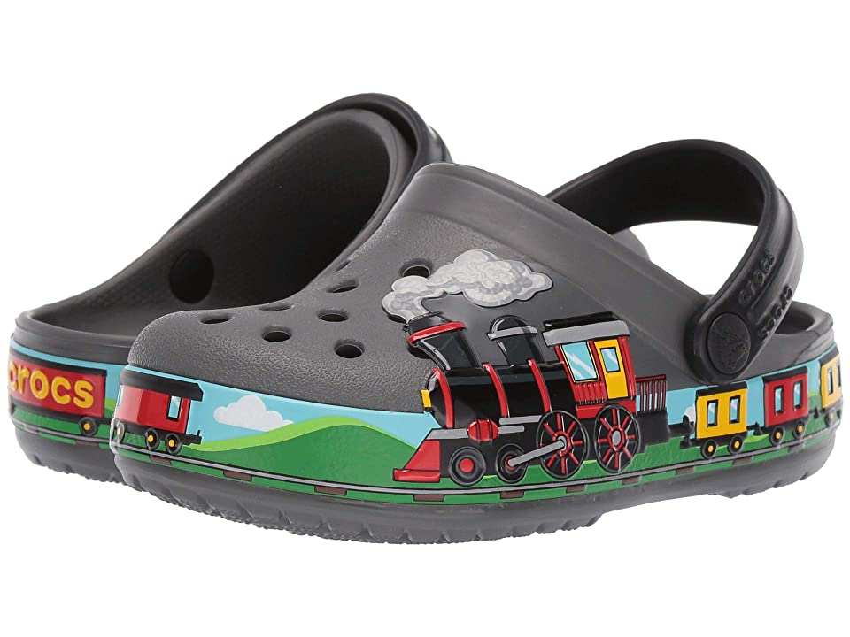 Crocs Kids CrocsFunLab Train Band Clog (Toddler/Little Kid) (Slate Grey) Kids Shoes