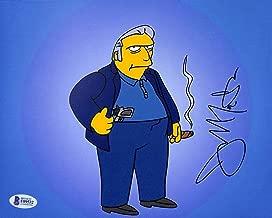 Joe Mantegna The Simpsons Signed 8x10 Photo Autographed BAS #F09532 - Beckett Authentication