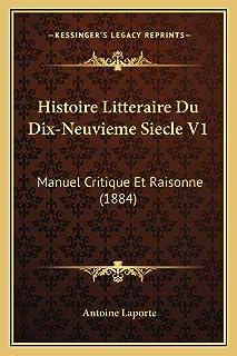 Histoire Litteraire Du Dix-Neuvieme Siecle V1: Manuel Critique Et Raisonne (1884)